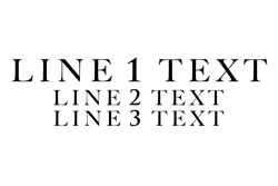 3 Lines Straight Text - Line 1 Larger