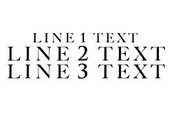 3 Lines Straight Text - Line 1 Smaller