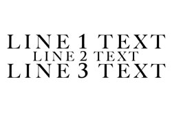 3 Lines Straight Text - Line 2 Smaller