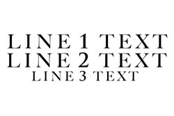 3 Lines Straight Text - Line 3 Smaller