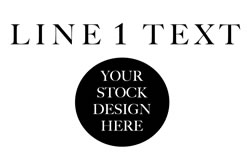 Straight Text Above Stock Design