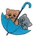 Kittens in Umbrella