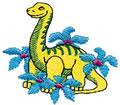 Dino w/Flowers