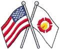 Flags w/Fire Logo