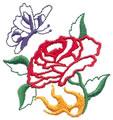 Rose w/Butterfly*