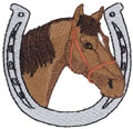 Horse w/Horseshoe