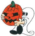 Ghost w/Pumpkin