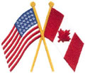 U.S. & Canadian Flags