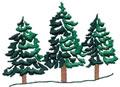 3 Pine Trees*