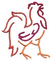 Rooster Outline*