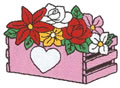 Crate w/Flowers