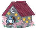Birdhouse w/Stars*