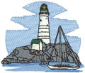 Lighthouse w/Sailboat*