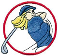 Woman Golfer Logo