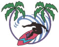 Sm. Surfer w/Palms