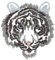 Sm. White Tiger Head*
