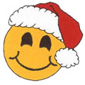 Smiley Face Santa